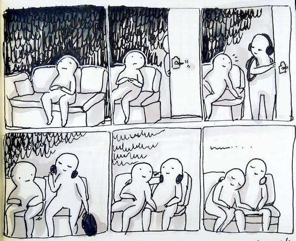 comic about having someone coming home and being around them makes you feel better
